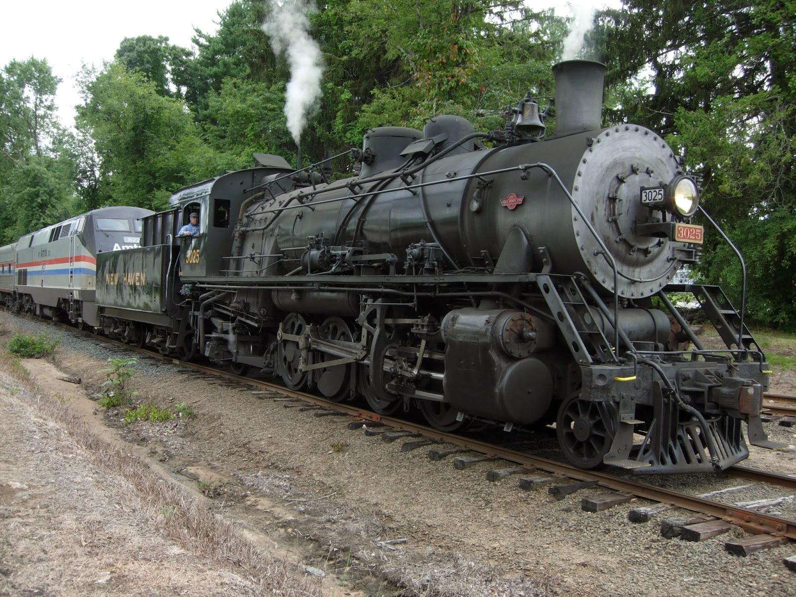 #3025 Waiting To Bring Amtrak Exhibit Train Northbound Into Essex Station