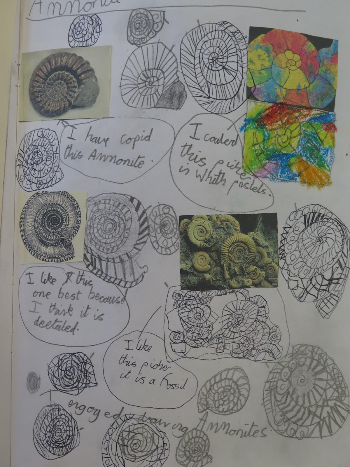 gomersal primary school art  example sketchbook pages