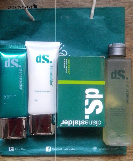 diana stalder whitening kit, soap, toner, cream, sunscreen,