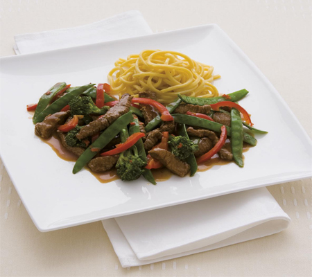 stir fried turkey or chicken with sugar snap peas and peppers and tips ...