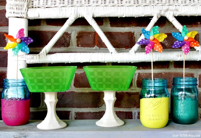 diy outdoor entertaining serving pieces