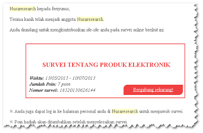 email undangan survei nusaresearch