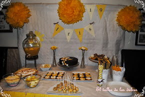 Fiesta en amarillo y chocolate