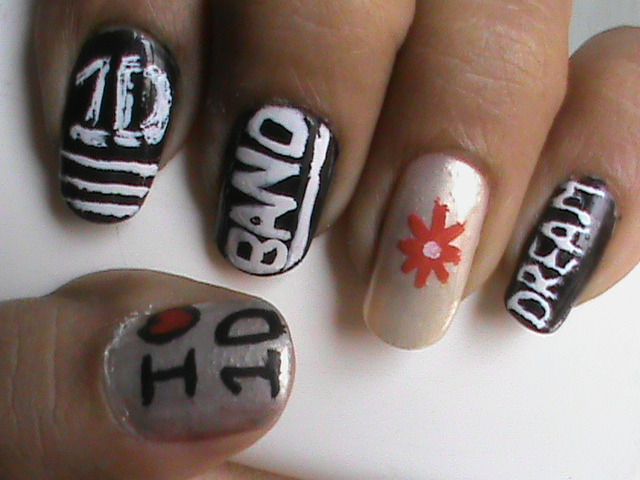 One Direction Easy Nail Art