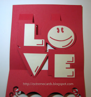 LOVE pop up card
