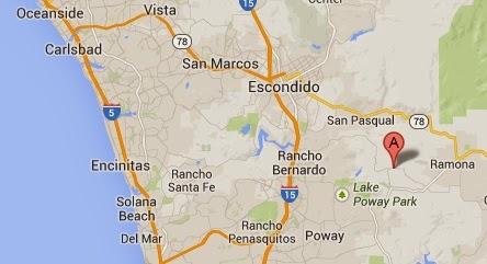 Birding Site Guide Ramona Grasslands Preserve Greg In San Diego - California map ramona