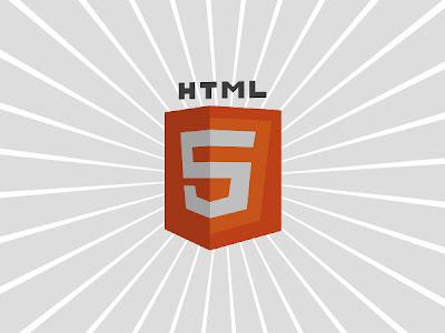spinning html5 logo