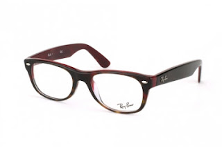 rame Ray-Ban New Wayfarer havana on red