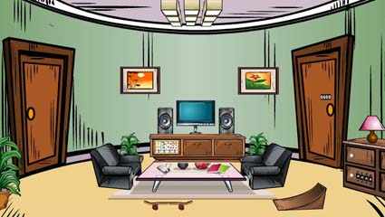 Pleasant living room escape 1001 juegos for Dining room y sus partes