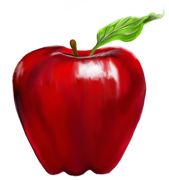 snow white apple clip art