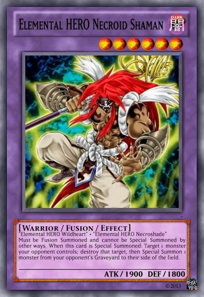 elemental hero necroid shaman yugioh monstros de duelo