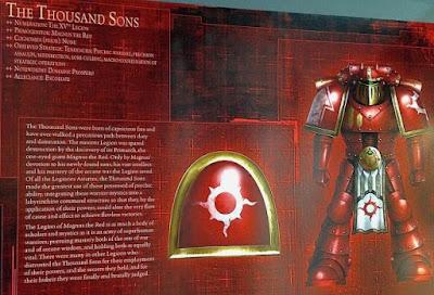 La Legíon de Thousand Sons durante la Herejía de Horus