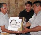 Convive Edil Carlos Sanguino con Comunicadores de Calkiní.