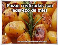 Recetas saludables , recetas de papas rostizadas con aderezo de mie
