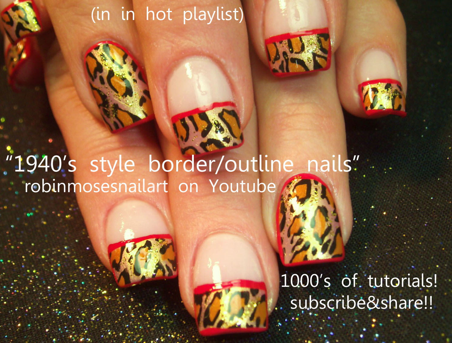 Nail Art Design: 40\'s inspired nails, movie star nails, glam nails ...