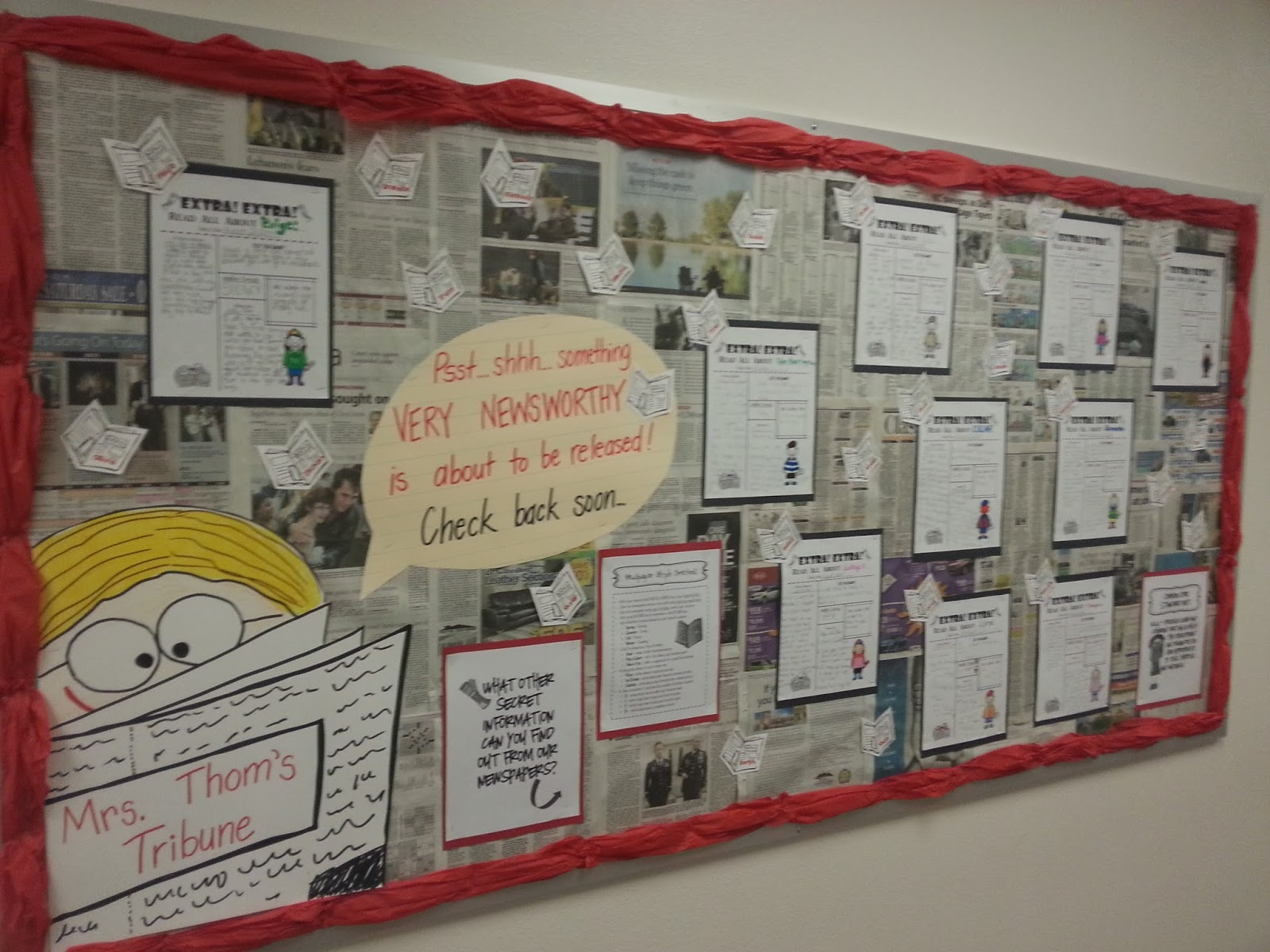 Classroom Newspaper Ideas : Well michelle glyph bulletin board