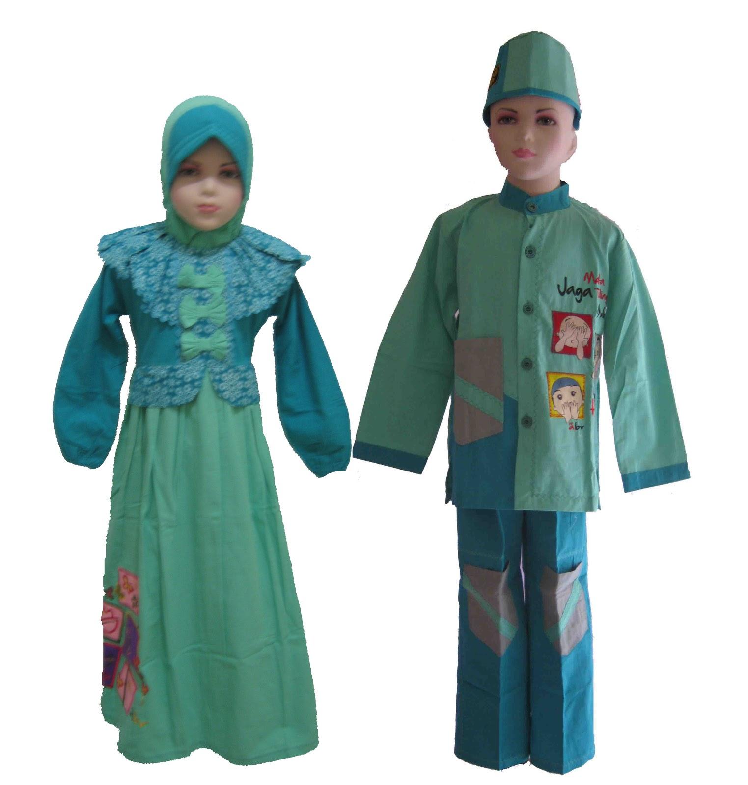 Seragam baju muslim seragam muslim bahan katun kanvas Baju gamis n koko couple