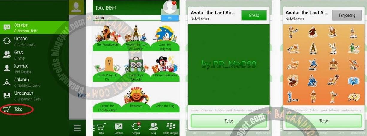 download BBM Free stiker terbaru 2.7.0.23 gratis