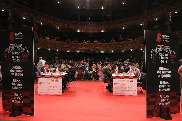 El Bilbao Chess se celebra en el incoparable marco del teatro Campos Eliseos