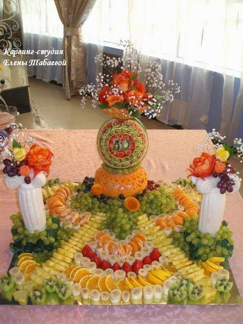 украшение фруктовый карвинг юбилей южно-сахалинск