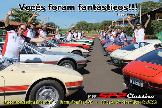 Agradecimento aos participantes do Encontro Mundial de VW SP2