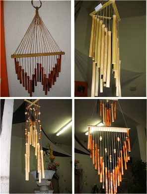 Sinos dos ventos feito em bambu