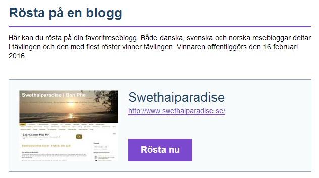 Rösta på min blogg