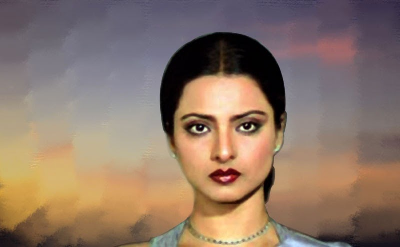 Old Is Gold Beautiful Rekha HD Wallpaper | Free Wallpapers Download