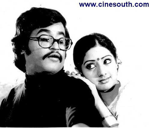Rajinikanth & Sri Devi in 'Dharma Yutham' movie