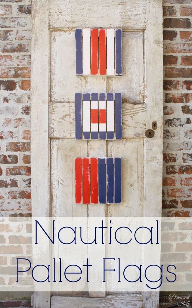 Nautical Pallet Flags from A Diamond in the Stuff