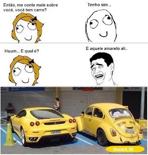 Imagens Engraçadas para facebook, Qual carro é? Aquele amarelo ali