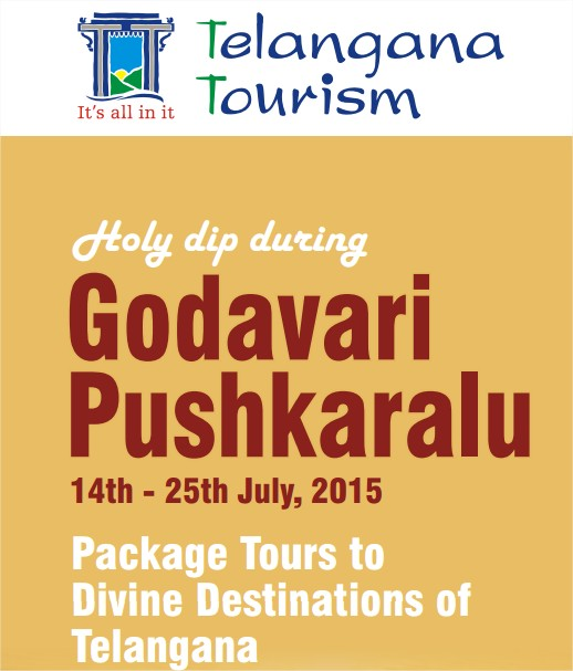 Goadavari Pushkaralu 2015 -Telangana Tourism Bus Packages Tours to Ghats, Tourist Attractions, Temples, Heritage Spots, Nature Retreats, Transportation