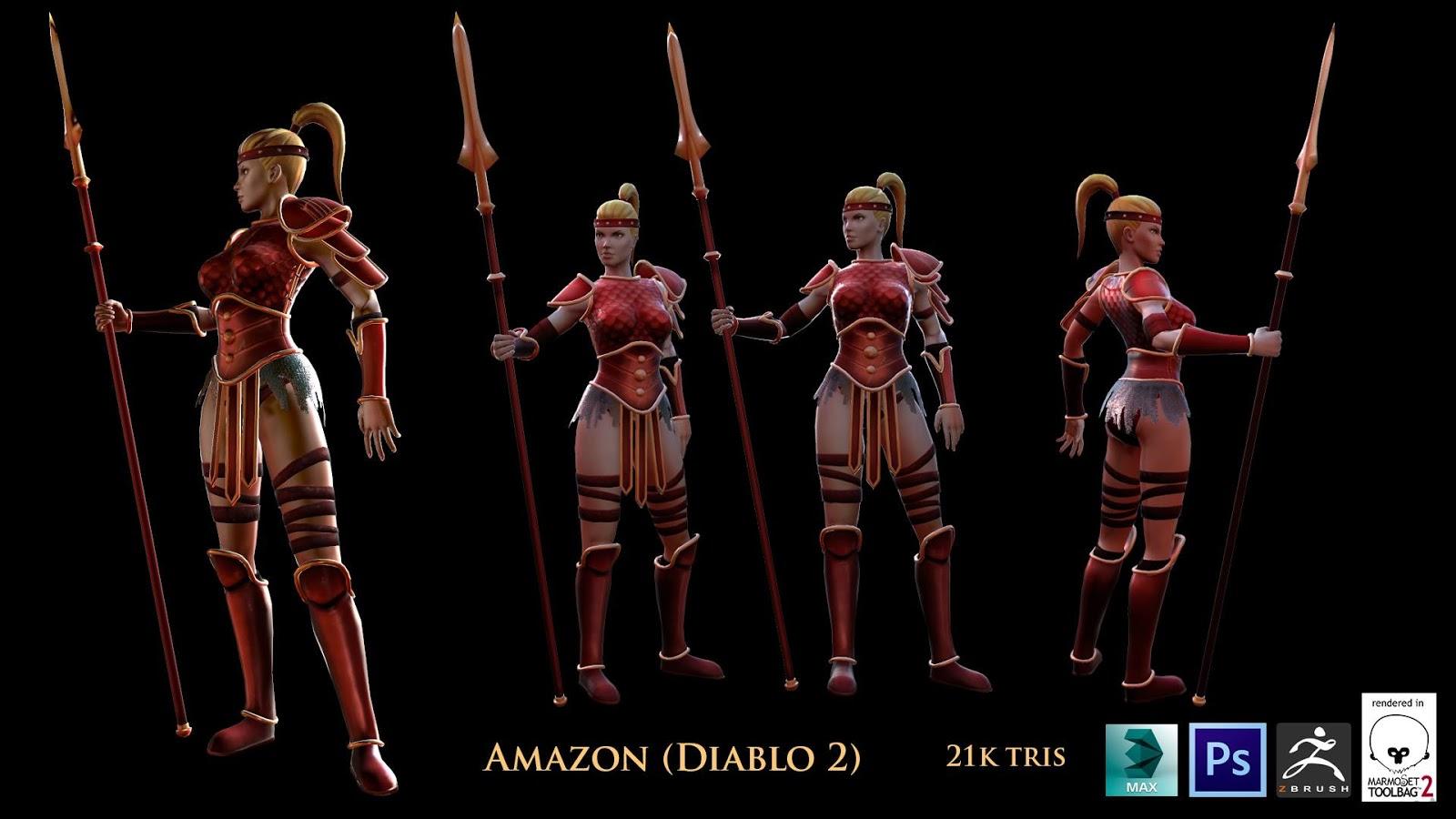 Diablo 2 amazon titties naked image