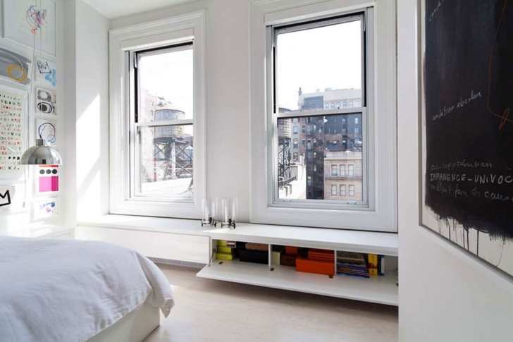 "Bedroom windows in Modern New York Apartment by ""Resolution: 4 Architecture"""