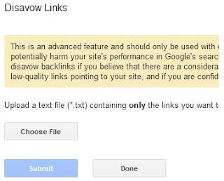 penjelasan google disavow links