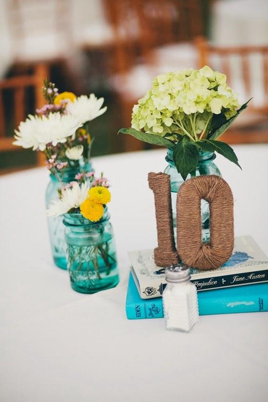 Números para mesas de bodas
