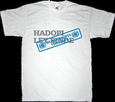 ley sinde Ley de Economía Sostenible hadopi internet 2.0 p2p activism t-shirt ephemeral-t-shirts