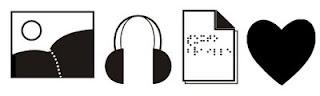 Desenho em preto e branco de três símbolos: um ícone utilizado pelo Windows para representar