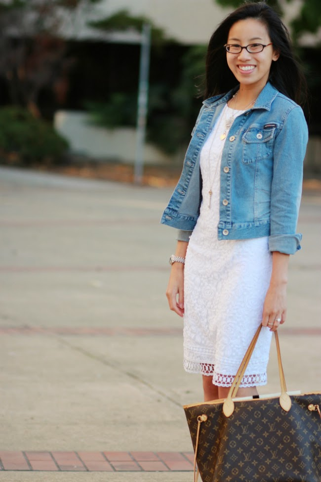 jean denim jacket with dress trend casual