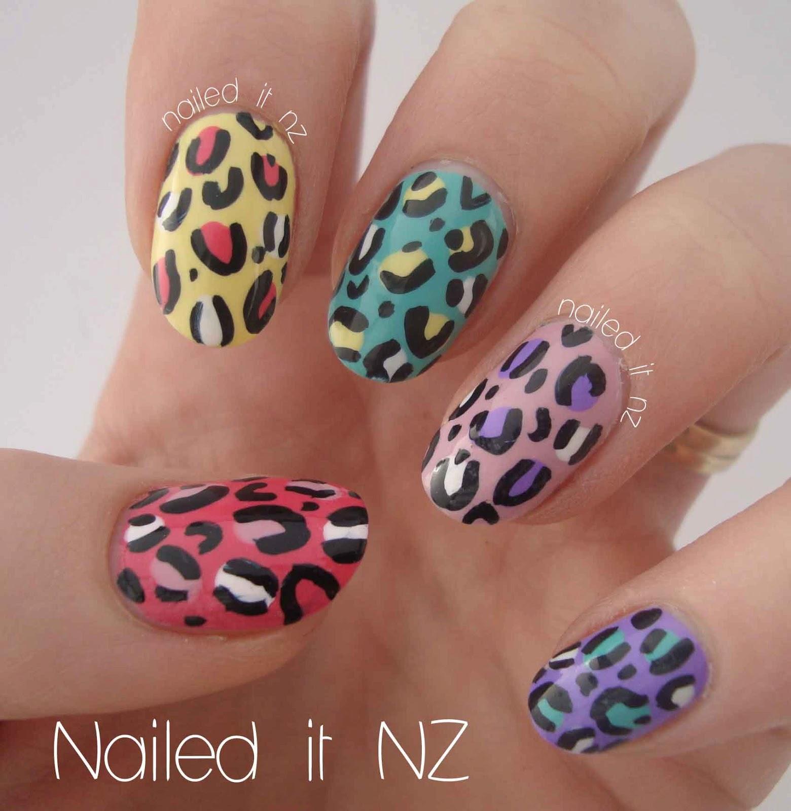 Leopard Print Nail Art Tutorial On Youtube