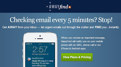 awayfind sms notifications