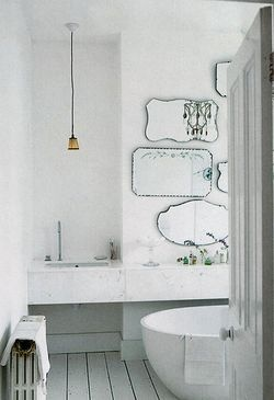 Bathroom Mirrors Contemporary on Bathroom With Parquetry Flooring Is Gorgeous  I Am A Big Fan Of