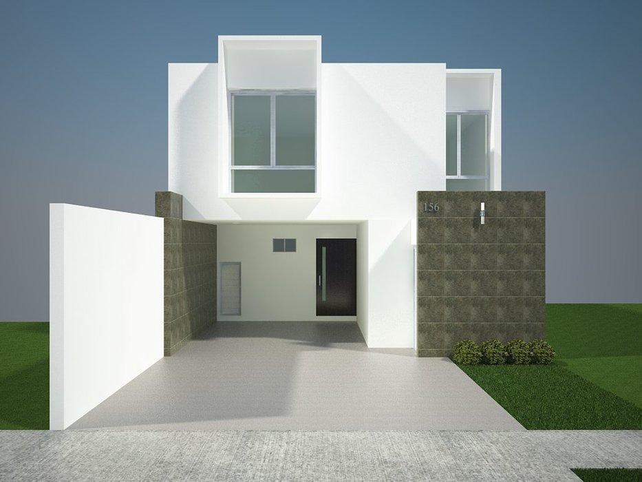 Fachadas minimalistas fachadas minimalistas modelo b6 for Acabados fachadas minimalistas