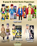 K-pop and Artist Serie Papertoys