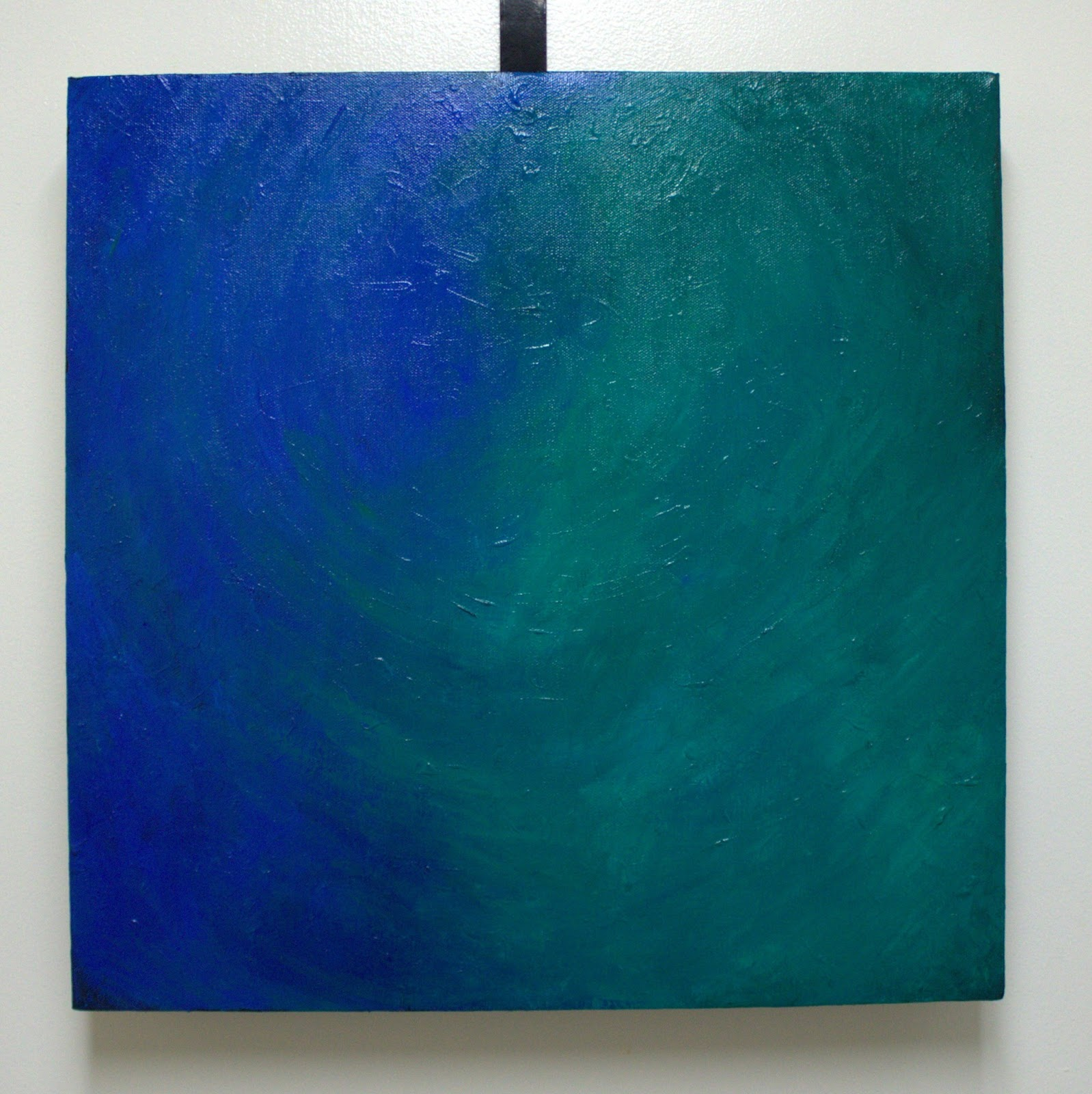 Heavily Edited | Blue-Green Acrylic Painting on Canvas