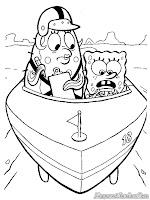 Sponge Bob Square Pants Sedang Mengikuti Test Mengemudi Bersama Mrs Poppy Puff