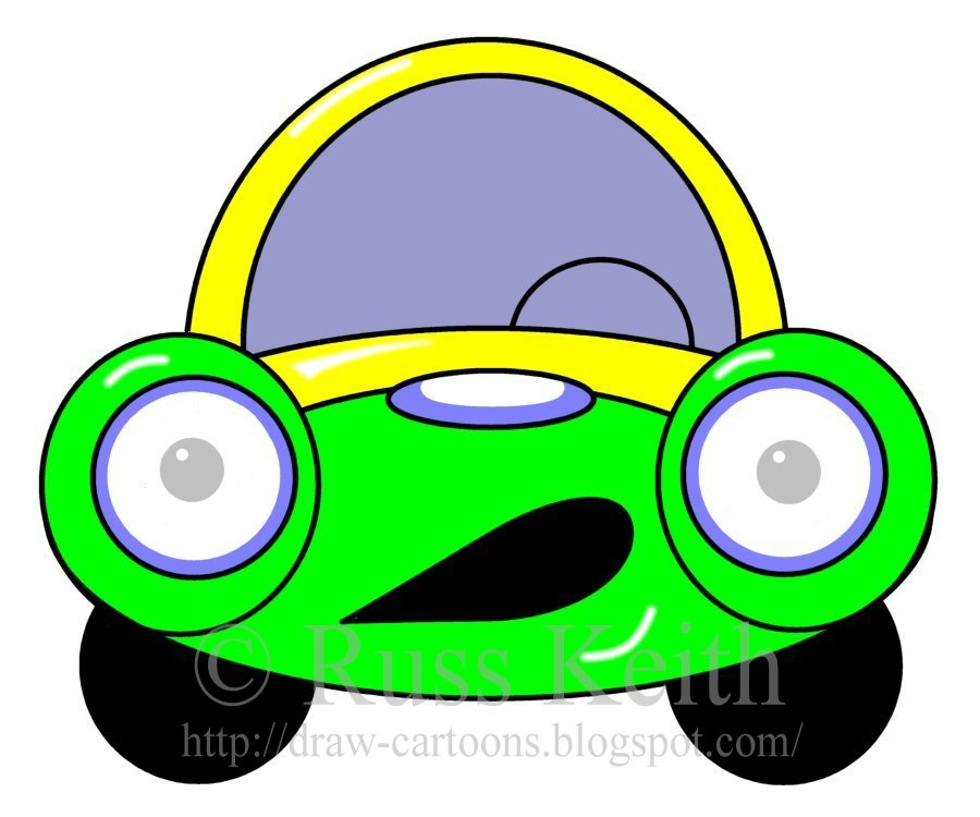 ... -by-step instructions of how to draw a cartoon car or monster truck