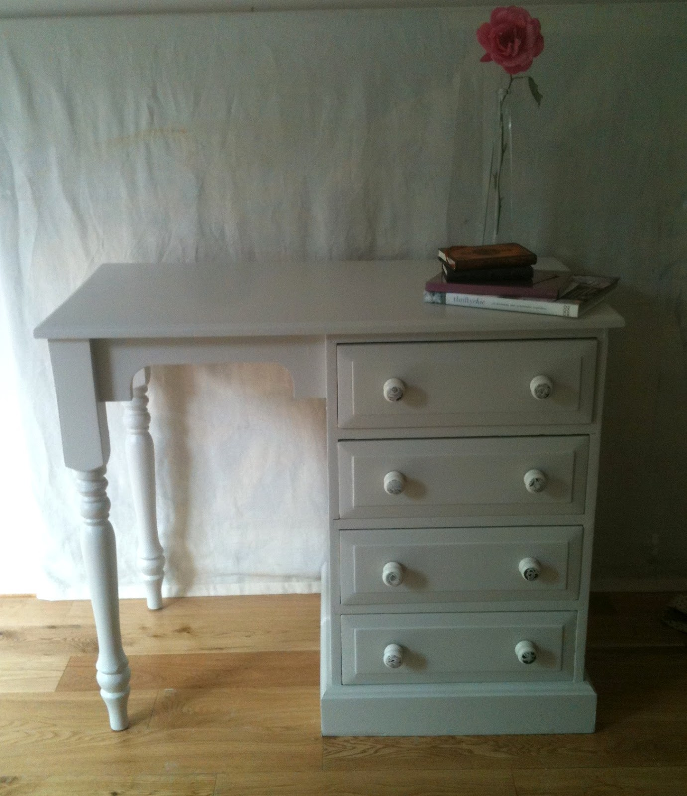 BowieBelle Vintage & Upcycled Furniture: Shabby Chic Desk #upcycled. Full resolution  photograph, nominally Width 1381 Height 1600 pixels, photograph with #5D492C.