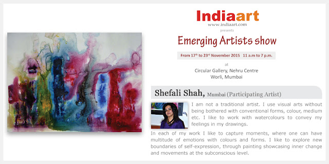 Artist Statement by Shefali Shah - Emerging Artists show by Indiaart.com