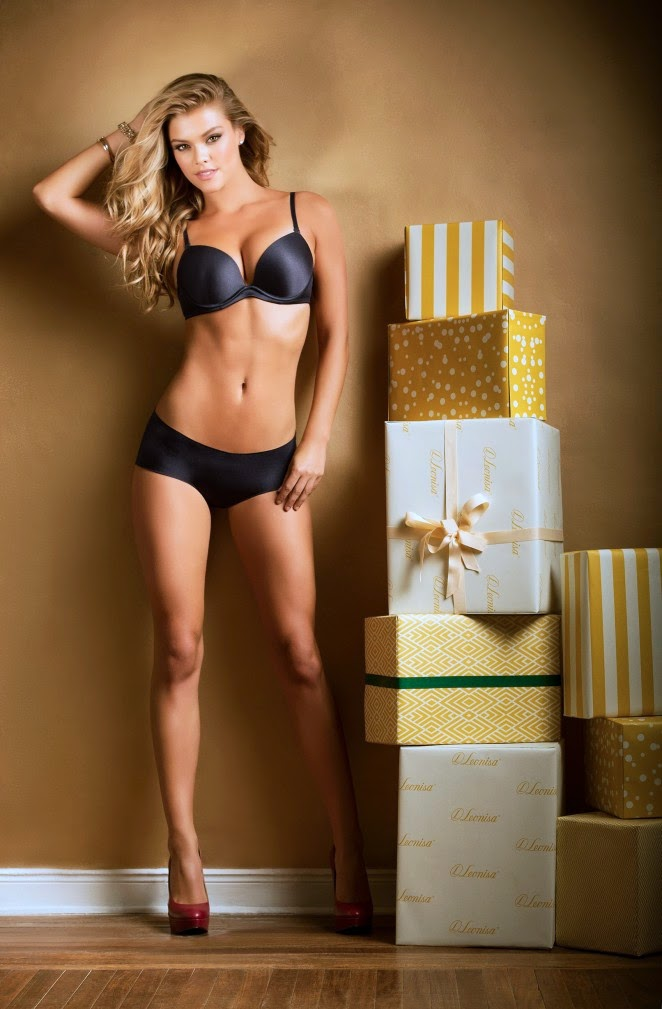 Nina Agdal – Leonisa Lingerie: Christmas Wishes (December 2014)